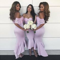 Off Shoulder Short Sleeve Mermaid Cheap Pink Bridesmaid Dresses Online a45cfb912f21
