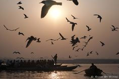 The Ganga River seen by Occhi di Ulisse. Benares, India.