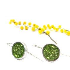 Earrings Handmade, Handmade Jewelry, Tarnish Remover, Big Earrings, Contemporary Jewellery, Sterling Silver Earrings, Jewelry Making, Green, Lovers