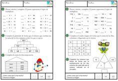 Las últimas fichas de matemáticas que estoy compartiendo, tienen como objetivo trabajar el cálculo mental y la lógica. En las que ahora comparto encontraréis juegos matemáticos de lógica del tipo:PIRÁMIDES Y TRIÁNGULOS NUMÉRICOS, CUADROS MÁGICOS Una buna manera de hacer pensar a los niños. Otras actividades similares en: Cálculo mental