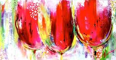 Items similar to Art Painting Tulips Original - Ready to Hang - Modern Home Decor - Floral Abstract Painting by Lana Moes on Etsy
