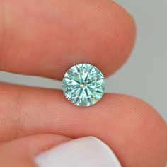 Greenish Blue Round Shape Diamond Deal ! 1.47 Carat SI2 Enhanced Loose For Ring #MyDiamonds