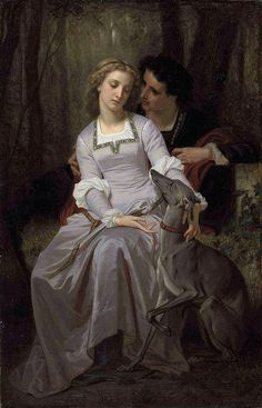 "Hugues Merle (French, 1823-1881), ""Silent Persuasion"""