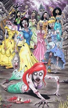 Disney princesses skeletons