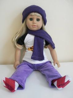 EASY Doll Pants, Socks, Hat, Scarf! -- TUTORIAL