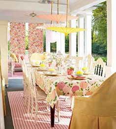 Cheerful covered porch