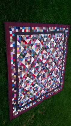 Scrappy Jacobs Ladder Queen Quilt - FREE SHIPPING in North America on Etsy, $325.00