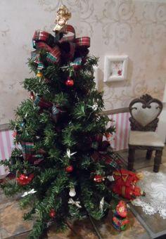 "Christmas Tree Diorama for Doll 1;6 for Monster high Barbie Blythe 12"" 14"" 1/6"