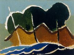 Untitled (Waves)	Arthur Dove (American, 1880–1946) Watercolor and gouache on paper