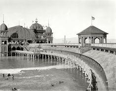 "The Great Salt Lake circa 1900. ""Saltair Pavilion."""