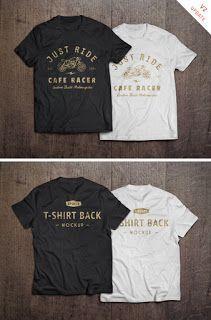 FREE T-Shirt MockUp PSD Creative T Shirt Design, Tee Design, Graphic Design, Print Design, Cool T Shirts, Tee Shirts, Fitness Motivation, Workout Fitness, Shirt Template