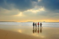 Number one beach in the UK is Rhosilli on the Gower in SW Wales; a beautiful and peaceful sandy beach.