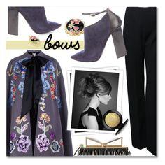 """bows"" by addorajako ❤ liked on Polyvore featuring Alaïa, Temperley London, Jimmy Choo, Sara Battaglia, Betsey Johnson, GALA, MAC Cosmetics and bows"