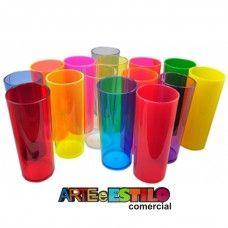 Emb c/ 100 Copos Long Drink 300ml  Só R$1,09 cada