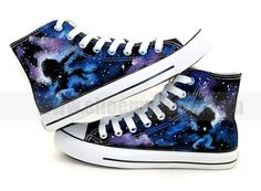 87148def31 Hot Sale Canvas Shoes Sagittarius Starry Sky Hand Painted High Top Fashion  Sneakers for Men Women