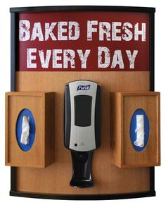 curved purell hand sanitizer station wall frame