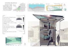 Galeria de Resultados do concurso estudantil de arquitetura bioclimática da IX Bienal José Miguel Aroztegui / Abrigos de Emergência - 3
