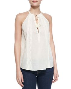 000bbe4f60ac Eniko Voile Embroidered Tank Top by Joie at Bergdorf Goodman. Bergdorf  Goodman