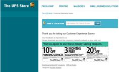 UPS Store Customer Satisfaction Survey, www.theupsstore.com/survey