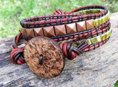 Beaded Wrap Bracelets  Wrap Bracelet  Best by TheLeatherEmballage