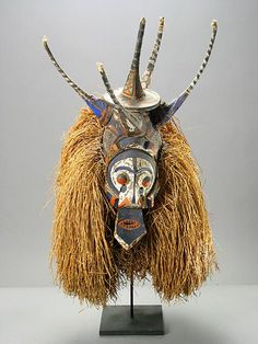 Yaka initiation mask, worn by young men during performances (in liminal period after circumcision), Congo