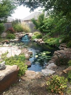 I want this backyard pond!