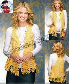 crochet kingdom (E.H): Crochet For Women...Draped in lace vest.. Free pattern!