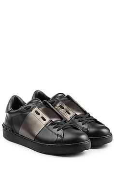 Open Leather Sneakers - Valentino | STYLEBOP.com