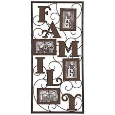 """Family 32"""" High Metal Photo Frame Collage"""