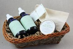 Wellness Care Kit for Children - Immune Booster Tincture, Throat Syrup, Vapor Rub, & Menthol Bath Fizzies - Gift Basket - Fall - Winter. $44.97, via Etsy.