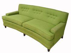 Curvy Green Vintage Sofa