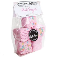A bag of yummy homemade bubble bar marshmallows made of Italian lemon, strawberry,cotton candy and musky vanilla. Comes in a bag of 5 marshmallows, great for multi use. How to use: After you have show
