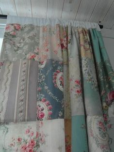 Nostalgia at the Stone House: patchwork curtains