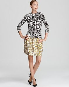 What an effortlessly classy transitional dress from DvF at Bloomingdale's for 40% off!  #amyesperstyling