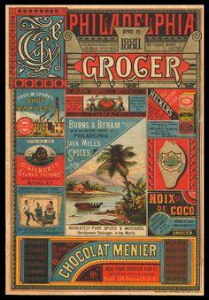 "Cover, ""Philadelphia Grocer Magazine, 1880, Artemas Ward, Editor, at sheaff-ephemera.com"
