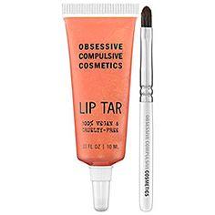 Obsessive Compulsive Cosmetics - Lip Tar - Metallic in Electric Grandma - classic coral frost  #sephora