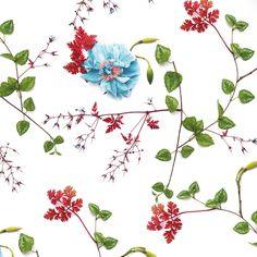 Wallfashion: PATIO Herb Robert & Rose, by Muurbloem