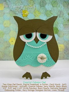 addINKtive designs: Coastal Cabana Owl for Perfectly Rustics
