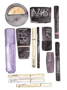Beautiful art by Dallas Shaw, for How To Look Expensive  #Beauty #Style #Makeup