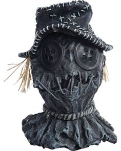 Adults Scar-Crow Scarecrow Overhead Latex Mask Costume Accessory