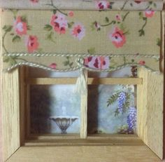 scale blind or small scale blind. Blind is in fixed position and is finished off on the reverse, so looks nice and neat from the outside too. For your dolls house. House Blinds, Dollhouse Miniatures, Scale, Roses, Windows, Beige, Ebay, Home Decor, Miniatures