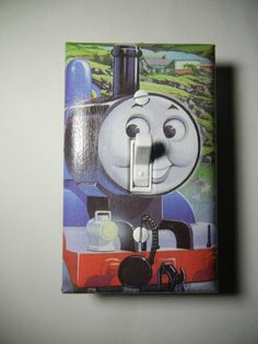 Thomas the Train Engine Light Switch Plate Cover by ComicRecycled, $7.99