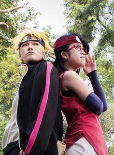 BorutoSarada Naruto Cosplay, Cosplay Boy, Anime Cosplay, Anime Naruto, Sasuke, Boruto And Sarada, Bleach, Dress Up, Boys