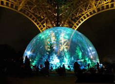 The Eiffel Tower has its own snow globe with 120 trees, from now until January 18, 2015