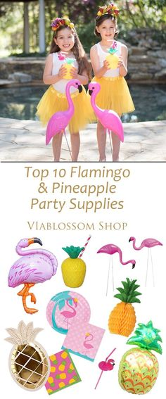 Top 10 Flamingo and Pineapples party ideas and Party Supplies!! for more visit blog.viablossom.com