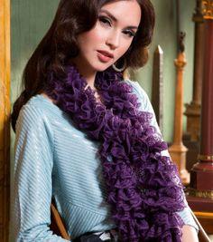 Fancy Frills Knit Scarf at Joann.com