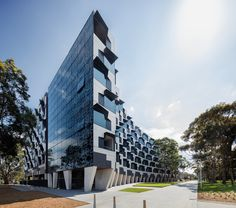 Completed in 2015 in Clayton, Australia. Images by John Gollings            . Logan Hall, on Monash University's Clayton Campus, is a 6 level building with 250 rooms of student accommodation designed by McBride Charles Ryan...