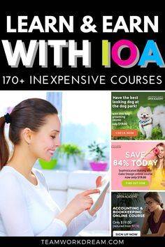 Ready to learn something new? Sign up to the International Open Academy for in-depth inexpensive courses on a whole range of topics for you to start earning from home as a side hustle or full time. Start a new business by learning something new at a budget-friendly rate. Give a course as a gift. #internationalopenacademy #onlinecourses #elearning #distancelearning #onlinelearning #workfromhomeideas #giftideas Online Work From Home, Work From Home Business, Work From Home Tips, Earn Money From Home, How To Make Money, Open Academy, List Of Courses, Learn Earn, Work Opportunities