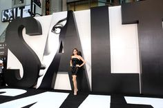 One way to get an event's message out is to write it in a way that's too big to miss. The Angelina Jolie movie Salt premiered in Los Angeles in 2010 with 12-foot-tall letters that spelled out the film's name in eye-catching graphic form.