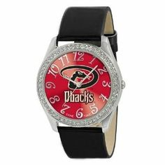 Arizona Diamondbacks Ladies Watch - Designer Diamond Watch by Game Time. $39.95. 50 Crystal Stones-Water Resistant Up To 3 ATM. Stainless Steel And Leather. Officially Licensed Arizona Diamondbacks Ladies Designer Diamond Watch. Approximately 1 Inch Face. Women. Arizona Diamondbacks women's watch. This Diamondbacks designer diamond watch features a metal case with 50 crystal stones. The watch is made of a patent leather strap, brass dial, stainless steel buckle, case back...